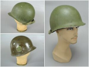 WW2 Vintage McCord M1 Helmet & Capac Liner with 35th Division Insignia Decal
