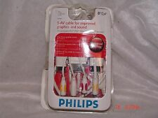 NEW PHILLIPS 8FT S-AV CABLE IMPROVED GRAPHICS & SOUND PS2-PS3-XBOX360-ELITE-WII