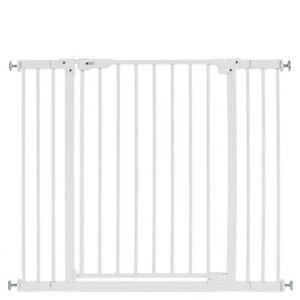 Türschutzgitter Treppengitter Absperrgitter Schutzgitter Türgitter 70-100cm Weiß