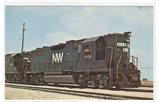 Norfolk & Western Railroad Train 4128 Bellevue Ohio postcard