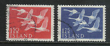 Iceland 1956 Nordic/Wild Swans--Attractive Bird Topical (298-99) fine used