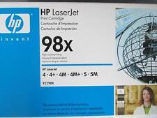 Genuine Original HEWLETT PACKARD HIGH Black Toner Cartridge 92298x 4 4+ 4M 98X
