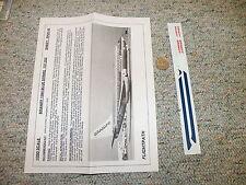 Flight Path decals 1/200 FP20-44  Braniff 1984 blue  stripe 737-200  H81