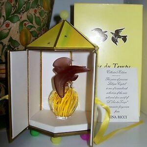 RARE Nina Ricci L'Air du Temps Perfume~Purple Doves Lalique Bottle~Sealed~MIB