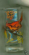 Beautful Glass Tumbler Featuring a Cardinal 5 1/4 inch High