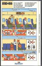 Brochure Spanair Airlines MD-83 For Your Safety