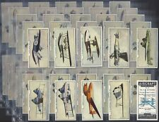 PHILLIPS-FULL SET- AIRCRAFT SERIES No.1 (VARNISHED 54 CARDS) - EXC+++