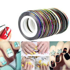 30 Rolls Striping Tape Line DIY Nail Art Tips Sticker Decor Manicure Accessories