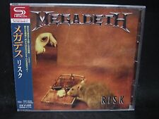 MEGADETH Risk + 3 JAPAN SHM CD Metallica MD.45 Vixen Hawaii Alice Cooper Ratt