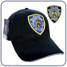 Venditore del Regno Unito York Nuovo di zecca con licenza Nypd Police Department Cap Cappello Nero Poliziotto