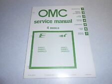 1981 4 hp Genuine JOHNSON EVINRUDE Outboard Repair & Service Manual 4hp