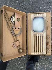 Motorola Ts4j Rare Round Screen Portable TV  Television Excellent Condition!