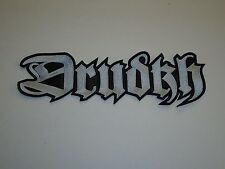 DRUDKH BLACK METAL EMBROIDERED BACK PATCH