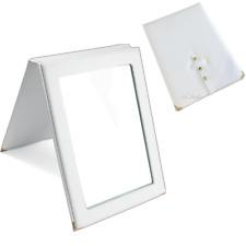 "Countertop Mirror Folding Mirror Travel Mirror White Portable Mirror 10"" High"