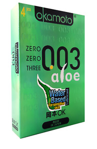 Okamoto 003 Aloe Condones Ultrafino Condones Japón Jalea Lubricados Condones BX4