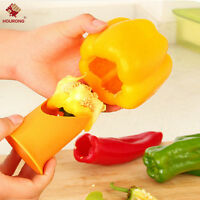 2PCS Pepper Cutter Corer Slicer Tool Fruit Peeler Kitchen Healthy Kitchen Tool