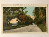 Greetings From Rock Hill, New York NY Postcard - Car Driving Down Road