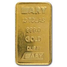 10 Tolas Gold Bar - Secondary Market (3.75 oz) - SKU #71774