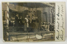 POSTCARD Royal Visit to Harrow School June 30th 1905; Real Photo; P/Mark Writtle