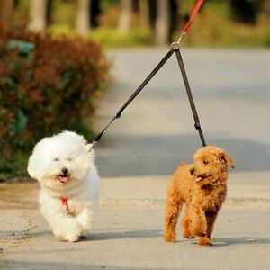 Double Dogs Leash Twin Leash Two Small Dogs Pet Couple Walking Lead Rope Strong