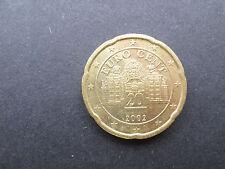 AUTRICHE - pièce 20 cts d' euro 2002 - TTB