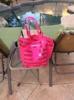 Victoria's Secret Pink Sequin Bling Travel Tote Bag New