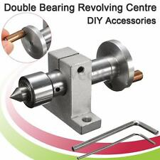 Double Bearing Live Center Revolving Centre For Mini Lathe DIY Wood Bead Machine