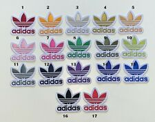 ADIDAS TREFOIL Sports - 17 COLOURS- Embroidered Iron on Sew on PATCH