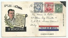 PHILIPPINES 1957 MIXED POSTAGE FROM MANILA TO  ITALY