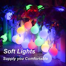 ALOVECO LED String Lights, 14.8ft 40 LED Waterproof Ball Lights, 8 Lighting Mod