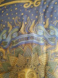 Hermes small scarf - pochette, gavroche Carpe Diem silk mousseline- bright blue