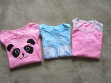 Lot 3 Girl's JUSTICE Pullover T-Tops - Sz 8 & 10 Long & Short Sleeve Pink & Blue