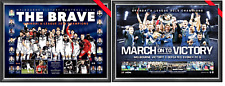 MELBOURNE VICTORY 2018 & 2015 PRINTs FRAMED 2018 A LEAGUE CHAMPIONS SOCCER