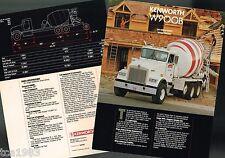 KENWORTH W900B Cement Mixer Brochure(s) + PremierCare Catalog, W-900B,900,B,1988