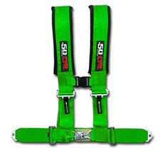 Monster Hunting Green Safety Race Harness 4 Point Polaris RZR XP1000 UTV RZR4 X