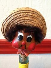 Vintage Mexican Head Tequilla Figural Cork Stopper