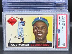 1955 Topps Jackie Robinson #50 PSA 3 Brooklyn Dodgers G45