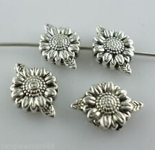 16pcs Tibetan silver DIY Sunflower Spacer Beads 8.5*13mm