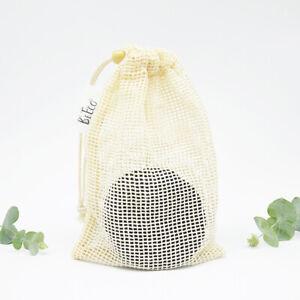 10pcs Black Washable Bamboo/Cotton Makeup Remover Pad Reusable w/ Cotton Bag