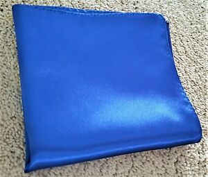 """Hand Rolled royal blue pocket square 11"""" x 11"""""""