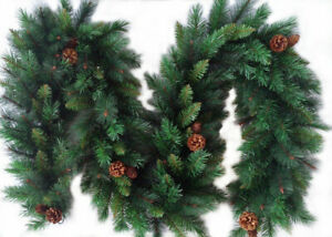 Christmas Garland 6ft 9ft 12ft Luxury Battery Wreath LED Lights Best Artificial