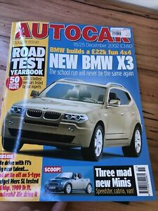 Autocar Car magazine DEC 2002 X3 MINI C3 SL350 C180 MAYBACH 928 MG ZT BERLINGO
