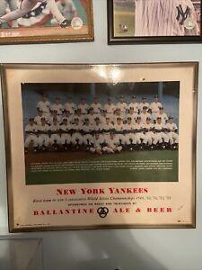 RARE 1954 ORIGINAL NEW YORK YANKEES BALLANTINE BEER SIGN RARE MICKEY MANTLE