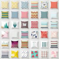 18'' Polyester Geometry Pillow Case Sofa Waist Throw Cushion Cover Home Decor