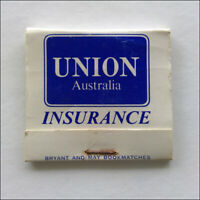 Union Australia Insurance Matchbook (MK62)