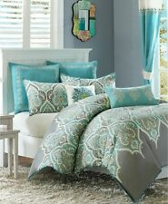 Madison Park Nisha Cotton Sateen 6-Pc Comforter Set KING / CALIFORNIA KING Teal