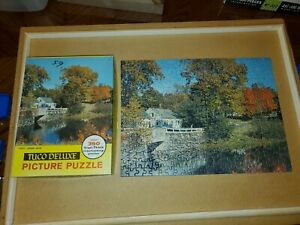 Vintage TUCO jigsaw puzzle AUTUMN LEAVES Tripl-Thick Complete No 1300-4