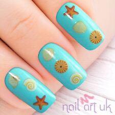 Vacaciones Mar Playa Shell de agua etiqueta Nail Stickers Tattoo Art 01.03.002