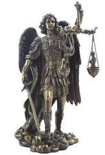 "11"" Archangel Michael Weighing Souls Statue Figurine San Saint Angel Miguel"