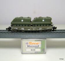Roco N 928 - Pianale a 4 assi SSy 45 con 2 M113 esercito USA livrea verde.